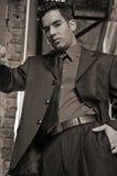 Hombre de negocios joven de la sepia Imagen de archivo libre de regalías