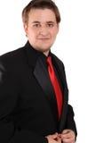 Hombre de negocios joven en juego formal negro Imagen de archivo libre de regalías