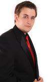 Hombre de negocios joven en juego formal negro Fotografía de archivo libre de regalías