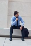 Hombre de negocios joven frustrado Fotografía de archivo