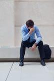 Hombre de negocios joven frustrado Foto de archivo libre de regalías