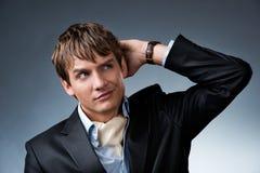 Hombre de negocios joven hermoso Fotografía de archivo libre de regalías
