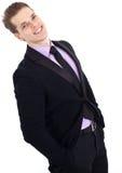 Hombre de negocios joven hermoso Imagenes de archivo