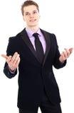 Hombre de negocios joven hermoso Imagen de archivo libre de regalías