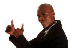 Hombre de negocios joven positivo Fotos de archivo libres de regalías