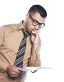 Hombre de negocios joven preocupante Imágenes de archivo libres de regalías