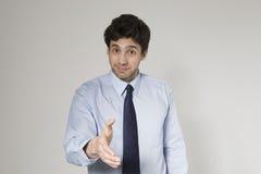 Hombre de negocios joven Ready To Set un trato Foto de archivo