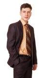 Hombre de negocios joven seguro Imagenes de archivo