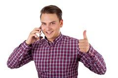 Hombre de negocios joven sonriente Fotografía de archivo