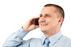 Hombre de negocios joven usando el teléfono móvil Foto de archivo