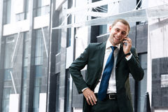 Hombre de negocios joven y acertado Imagen de archivo