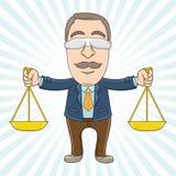 Hombre de negocios - justicia Imagen de archivo libre de regalías