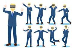 Hombre de negocios de la historieta Imagen de archivo libre de regalías
