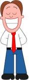 Hombre de negocios Laughing de la historieta. Imágenes de archivo libres de regalías
