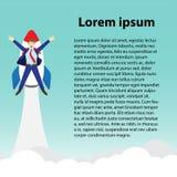 Hombre de negocios Launching Into Sky de Rocket With Text ilustración del vector
