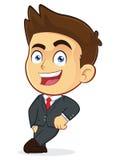 Hombre de negocios Leaning en un bloque vacío libre illustration