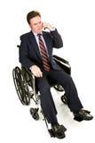 Hombre de negocios lisiado - conversación seria Fotos de archivo