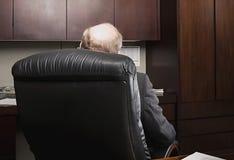 Hombre de negocios maduro con la cabeza calva Fotografía de archivo libre de regalías
