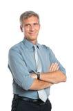 Hombre de negocios maduro confidente Foto de archivo libre de regalías