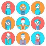 Hombre de negocios Male y director de sexo femenino de los avatares Imagenes de archivo