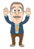 Hombre de negocios - manos para arriba Imagen de archivo libre de regalías