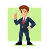 Hombre de negocios Mascot Character Imagen de archivo