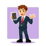 Hombre de negocios Mascot Character Imágenes de archivo libres de regalías