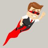 Hombre de negocios masculino del superhéroe, ejemplo del vector Fotografía de archivo libre de regalías
