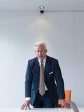 Hombre de negocios mayor confiado y hermoso Imagenes de archivo