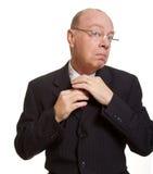 Hombre de negocios mayor expresivo Imagen de archivo libre de regalías