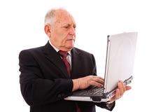 Hombre de negocios mayor moderno Foto de archivo