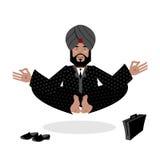 Hombre de negocios meditating Yoga del negocio del indio Hombre en t libre illustration