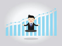 Hombre de negocios meditativo Concept Imagen de archivo libre de regalías