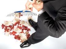 Hombre de negocios muy acertado Fotos de archivo libres de regalías