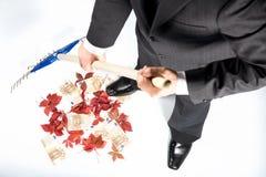 Hombre de negocios muy acertado Fotografía de archivo libre de regalías