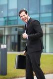 Hombre de negocios muy feliz imágenes de archivo libres de regalías