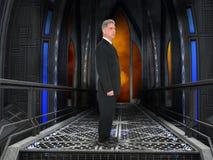 Hombre de negocios, negocio, sitio de la tecnología Foto de archivo
