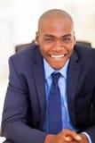 Hombre de negocios negro hermoso Imagen de archivo