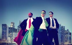Hombre de negocios New York Concept del super héroe Fotos de archivo libres de regalías