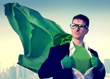 Hombre de negocios New York Concept del super héroe Imágenes de archivo libres de regalías