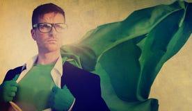 Hombre de negocios New York Concept del super héroe Imagen de archivo