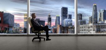 Hombre de negocios o agente inmobiliario de Los Angeles fotografía de archivo