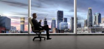 Hombre de negocios o agente inmobiliario de Los Angeles fotografía de archivo libre de regalías