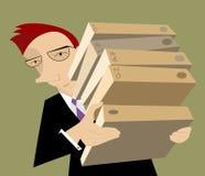 Hombre de negocios o un encargado Imagen de archivo libre de regalías