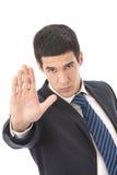 Hombre de negocios o vigilante de seguridad Imagen de archivo