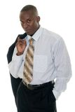 Hombre de negocios ocasional en juego negro foto de archivo