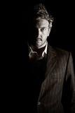 Hombre de negocios oscuro Foto de archivo