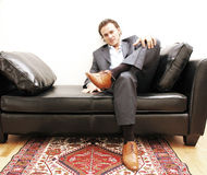 Hombre de negocios Overexposed foto de archivo libre de regalías