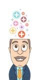 Hombre de negocios - pensamiento positivo Imágenes de archivo libres de regalías