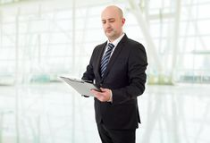 Hombre de negocios pensativo Fotos de archivo